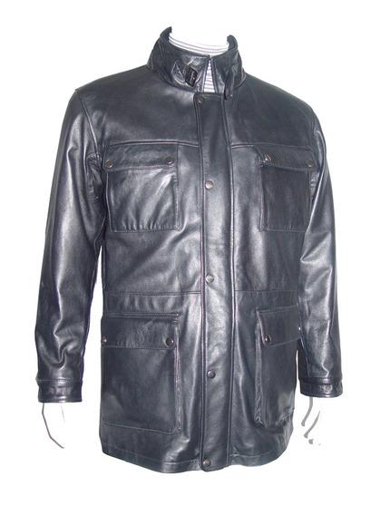 2036 Men Usar Casaco Cinto De Couro Real Gola Frente Zipper