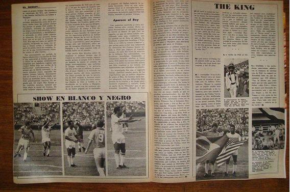 Revista El Grafico Cosmos Dallas Pele 1975