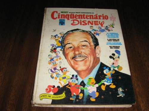 Cinquentenário Disney Formato Album 1973 Capa Dura 190 Págs