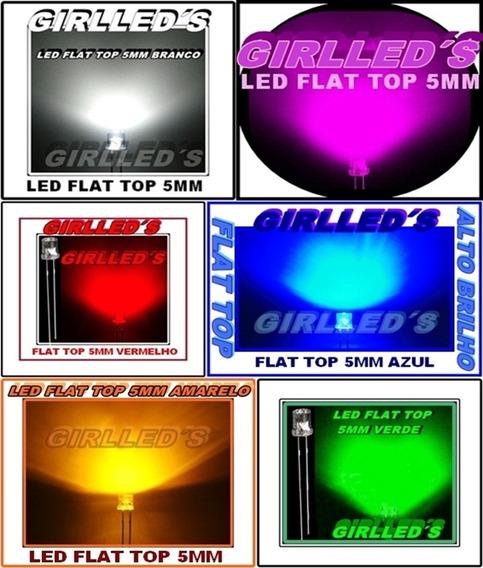 Led Flat Top/cabeça Chata- 5mm - Alto Brilho/ 40 Peças=r$20