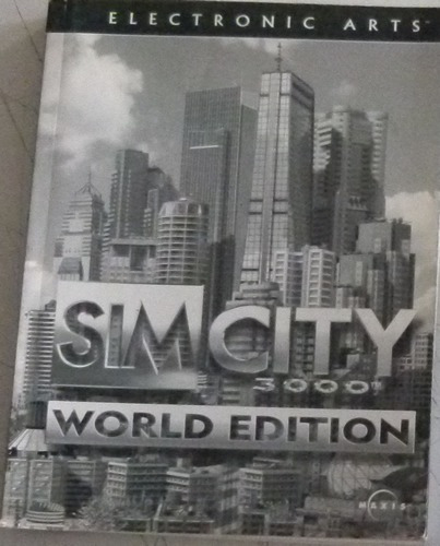 Manual Sim City 3000 World Edition - Bem Conservado