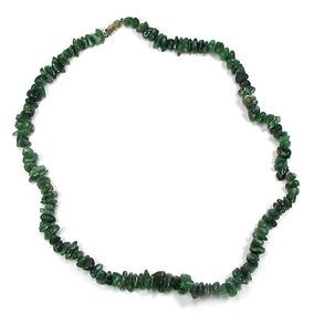 Lindo Colar De Cascalho Em Quartzo Verde Naturam Com 51 Cm