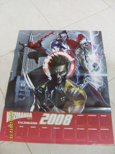 Imagem 1 de 1 de Poster Wizmania Calendario Dc 2008 - Bonellihq Cx133 J19