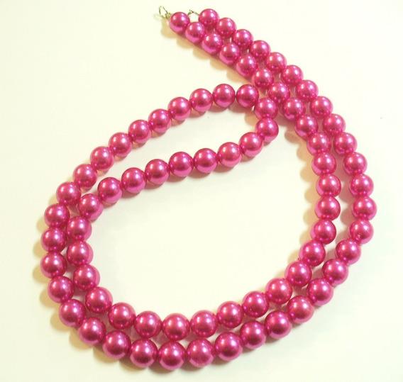 Colar Feminino Pérola Pink Metalizado, Cód 9197