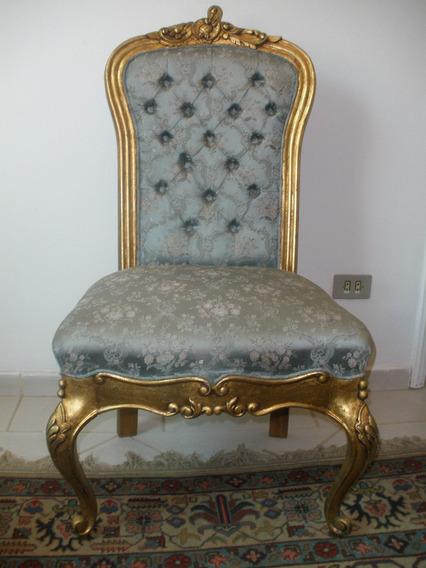 Lindissima Cadeira Estilo Francês Com Douração.