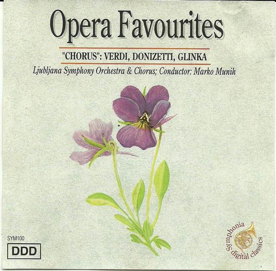 Verdi Donizetti Glinka Opera Favourites Chorus Cd Importado