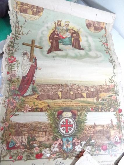 Antigo E Raro Diploma De Batismo Anos 30 Documento