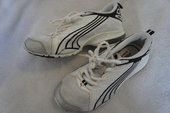 Tenis Puma Branco Prata E Preto 6 Anos Tamanho 13,5 American