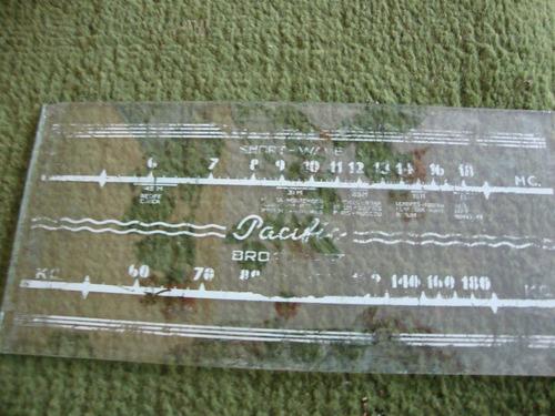Dial De Rádio Antigo Marca Pacific