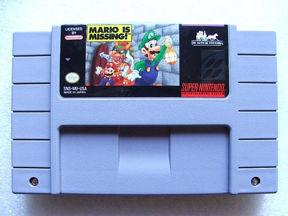 Mario Is Missing Super Nes Original Americano E 100% Ok
