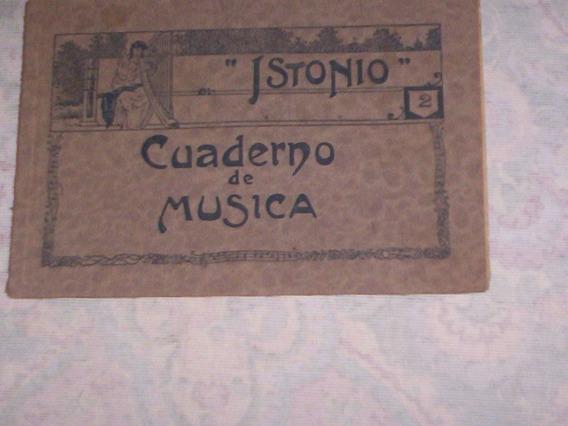Raro Caderno Escolar De Musica Muito Antigo