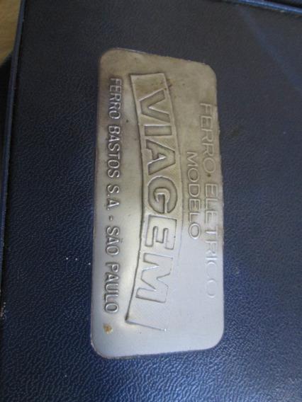 Ferro Antigo Viagem Bastos Com Bolsa 110/220v Raro Funciona