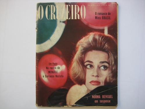 Revista O Cruzeiro Nº 41 - 1961 Miss Brasil Norma Benguel