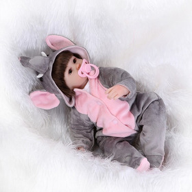 Boneca Bebê Reborn Ursinha Silicone Pronta Entrega