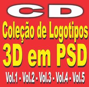Coleção De Logotipos 3d Em Psd Editáveis - 5 Volumes