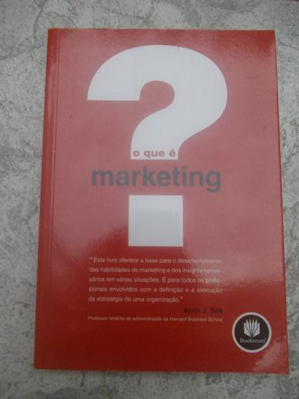 * Livro - O Que É Marketing - Alvin J. Silk