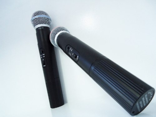 Microfone Mega Star Duplo Mic- 5537 Sem Fio Uhf - Imperdivel