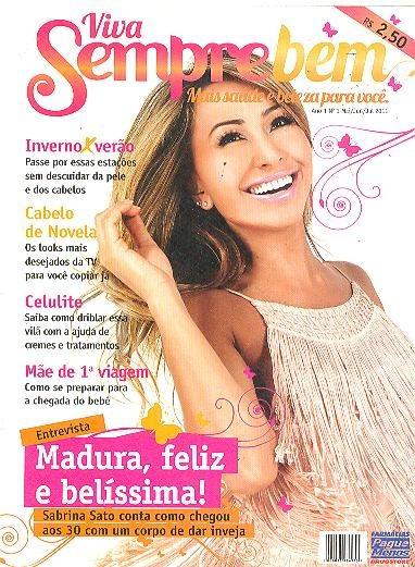 Sabrina Sato: Revista Sempre Bem Nº441 De Julho De 2011