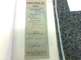 Bilhete Navio Alemão A Vapor General Artigas Ano 1933