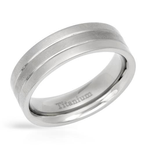 Anel Made Of 14k/ti Titanium-titanium/zircone Size 7