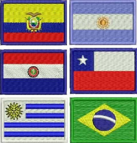Kit 5 Mini Bandeira Brasil Patch 3x4,5cm Países Ou Estados