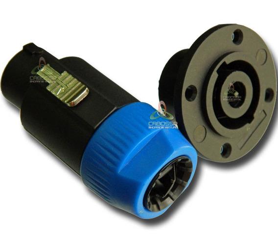 Kit 8 Conector Plug Speakon Macholinha/fêmea Painel 8 Polos