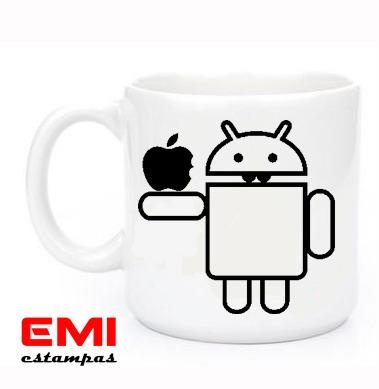 Canecas Engraçadas Android Apple
