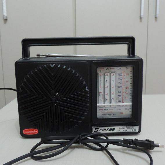 Rádio Companheiro Crp-51 5 Faixas Am/fm/sw Frete Grátis