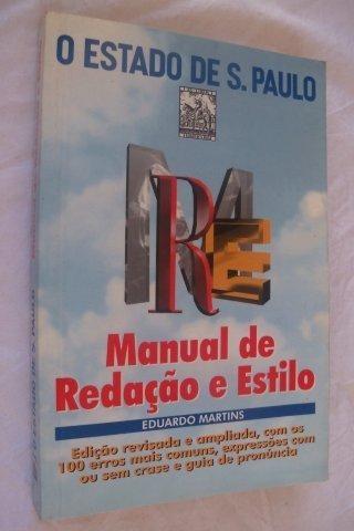 * Livro Estado De São Pauloredação E Estilo Eduardo Martins