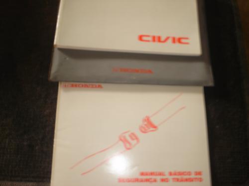 Honda Civic 4 Livretos + Pasta Original 2000
