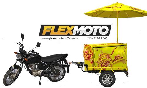Carretinha Ambulante, Térmico, Carrinho Ambulante, Para Moto