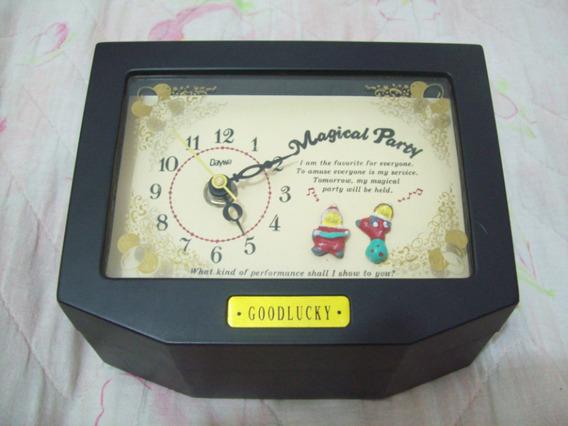 Porta Jóias E Caixinha Musical Com Relógio Funcionando