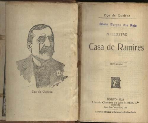 Livro Antigo De 1922 Do Eça De Queiroz - A Casa De Ramires