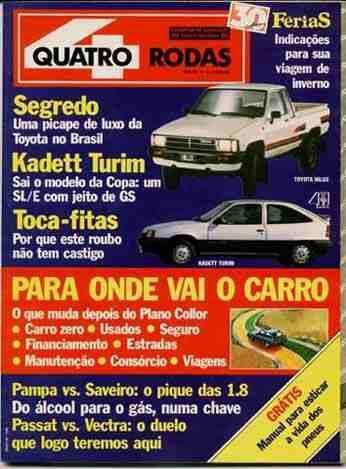 4rodas N.358 Mai 90 - Carro A Gás, Picapes, Nossos Alemães..
