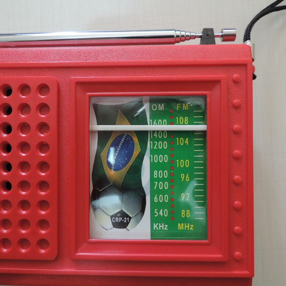 Rádio Receptor Portátil Crp-21 Am Fm Vermelho Frete Grátis