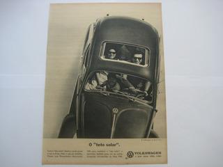 Propaganda Antiga Automóvel Carro Fusca Volkswagen