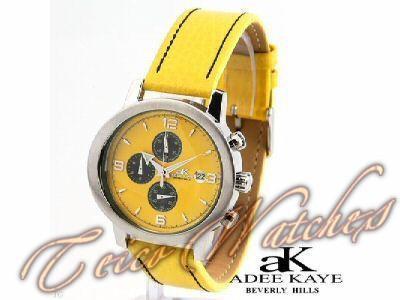 Relógio Chronograph Adee Kaye Beverly Hills Aço Safira 43mm