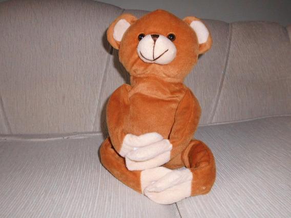 Urso Pelúcia (plush) Caramelo Tipo Agarradinho 32 Cm