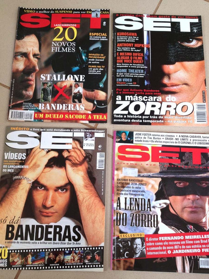 Coleção Antonio Banderas, Zorro, 4 Revistas Set De Cinema