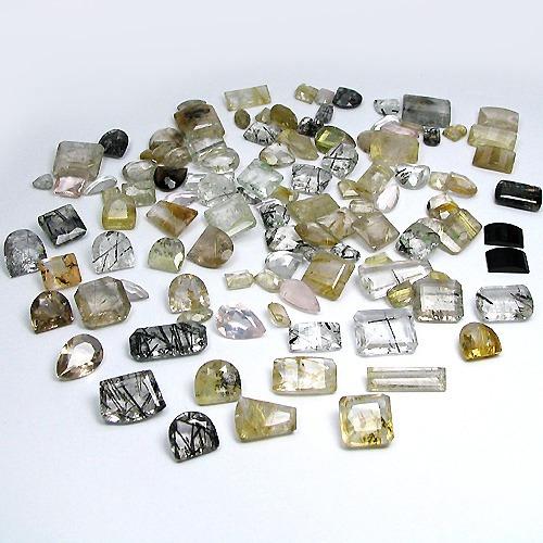 Lote Com 376,50 Cts E 113 Pedras Quartzo Rutilado, Dendrita