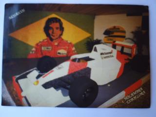 Cartão Postal Em Branco Aírton Senna Holambra