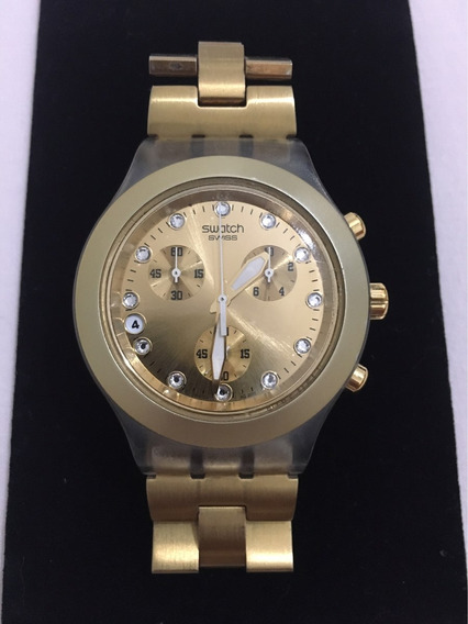 Relógio Swatch - Modelo: Irony Diaphane -cor: Dourado