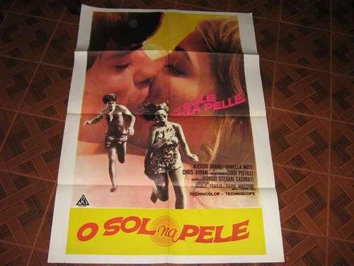 Cartaz De Cinema Original O Sol Na Pele Com Ornella Muti