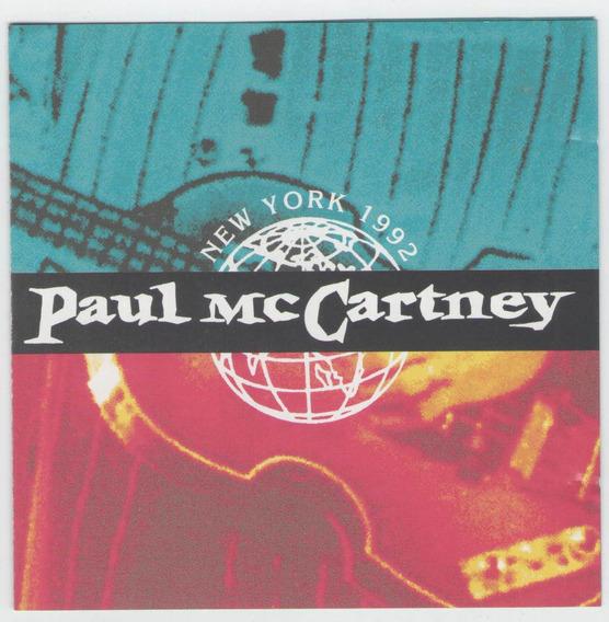 Cd Paul Mccartney - New York City 1992 - Importado - Beatles