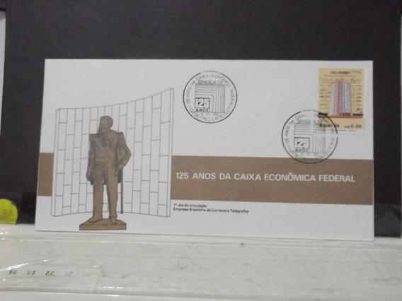 Envelope - Selo - 125 Anos De Caixa Econômica Federal 1986