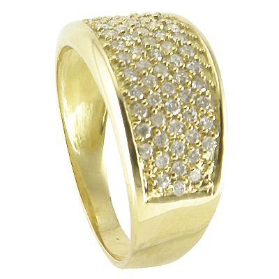 Ouro Amarelo Anel 18 Quilates Mais Diamantes De 1 Ponto