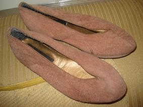 Sapato Em Camurça Terracota No 28- Novo