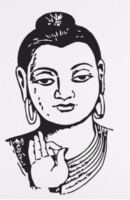Buda Sidartha Hermoso Vinilo Decorativo Adhesivo