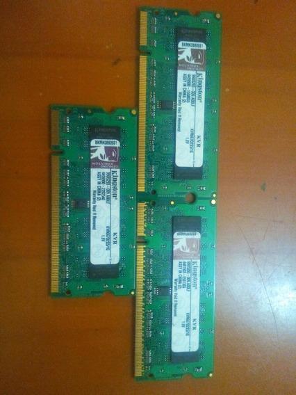 Memorias Kingston De 1gb Nuevas Ddr2 Para Laptops