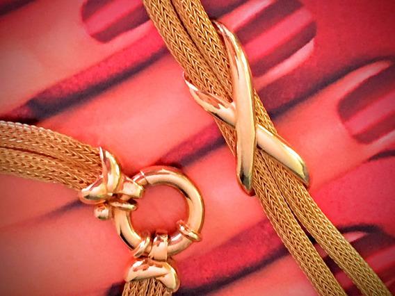 Corrente Ouro Maciço 18k-750 37.8 Gr, 43cm, Lindo.